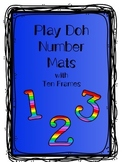 Play Doh Number Mats with Ten Frames