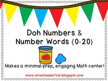 First Grade Number and Number Word Mats