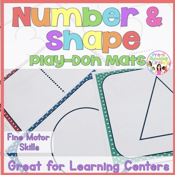 Play-Doh Numbers(1 - 20)  & Shape Mats