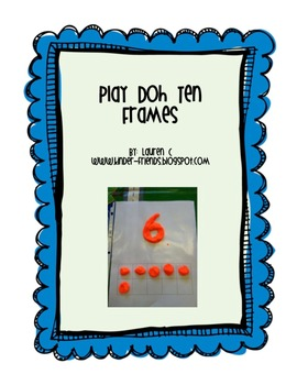 Play Doh Numerals with Ten Frames FREEBIE
