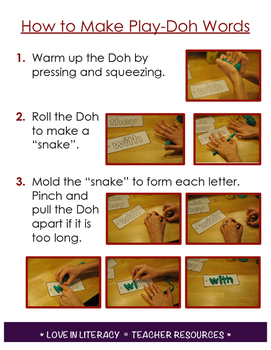Play Doh Picture Directions