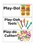 Play-Doh Picture/Word Labels