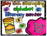 Play Doh / Play Dough Letter Stamps Alphabet Literacy Center Task Cards