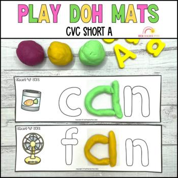 ♥ Play Doh Playdough CVC Mats Short A Phonics Work ♥ $1 DEAL