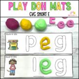 Play Dough Mats Sight Words CVC Short E Phonics