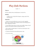 Play-Doh Portion Size Activity