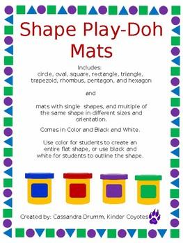 Play Doh Shape Mats
