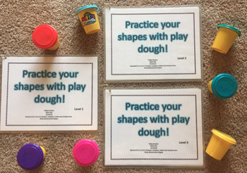Play-Doh Shapes Learning Center {Printable Template}