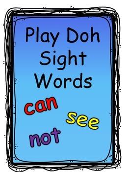 Play Doh Sight Word Mats