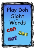 Play Doh Sight Word Mats