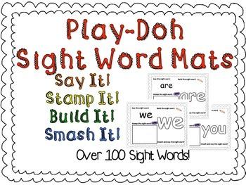 Play-Doh Sight Word Mats Mega Bundle!