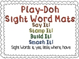 Play-Doh Sight Word Mats for Sight Words: is, yes, little,