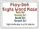 Play-Doh Sight Word Mats for Sight Words: play, in, a, for
