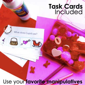Play Doh Smash Mats and Wh-Questions with Visuals for Speech Therapy: Valentines