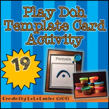 Elementary Music Play Doh Template Card Activity