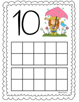 Play-doh Number Mats (#10-20)