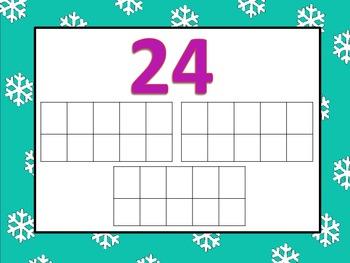Winter Play-Doh Tens Frame Mats for #'s 15-30