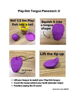Play-Doh Tongue Placement Sheets