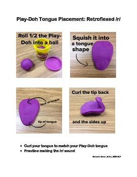 Play with Dough Tongue Placement Sheets