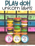 Play Doh Unicorn Labels