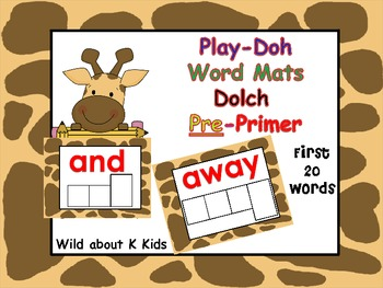 Play-Doh Word Mats for Dolch Pre-Primmer Words
