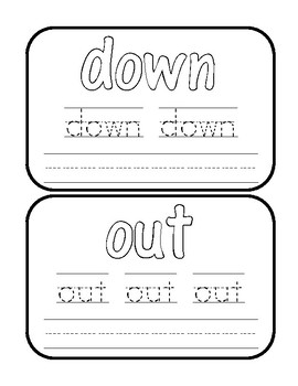 Play-Doh Word Work Cards