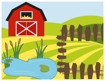 Play Doh farm mat