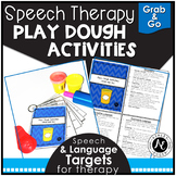 Speech Therapy Play-Dough Activities- Grab and Go