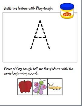 Play-Dough Alphabet