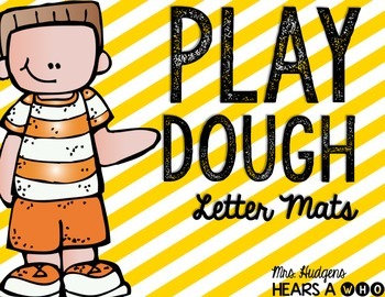 Play Dough Alphabet Mats