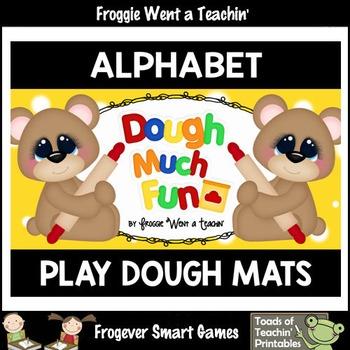 """Play Dough Alphabet --Play Dough Mats """"Dough Much Fun"""""""