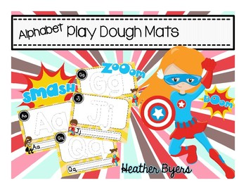 Play Dough Alphabet Mats Super Hero Theme