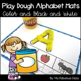 Play Dough Alphabet Mats in Color and Black and White
