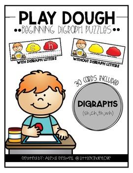 Play Dough Beginning Digraph Sound Cards