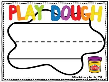 Play Dough Building Letters