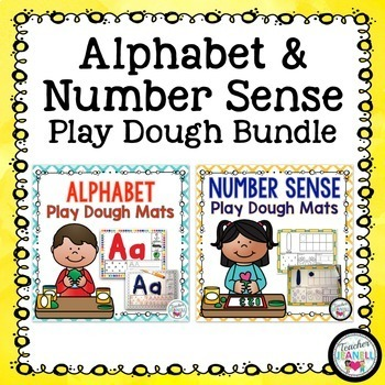 Alphabet and Number Sense Play Dough Mats Bundle