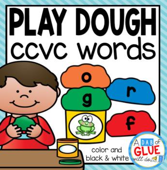 Play Dough CCVC Word Building Activity