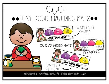 Play Dough CVC Mats
