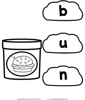 Play Dough CVC Word Building Activity