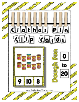 Play Dough Can Counting Clip Cards to 20 ~ Fun Math Center