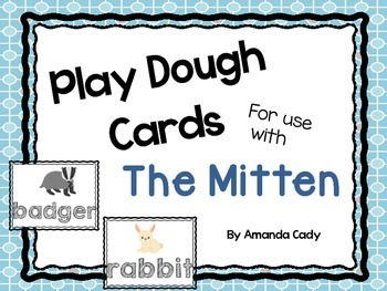 Play Dough Cards for use with The Mitten