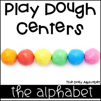 Play Dough Centers Alphabet Practice