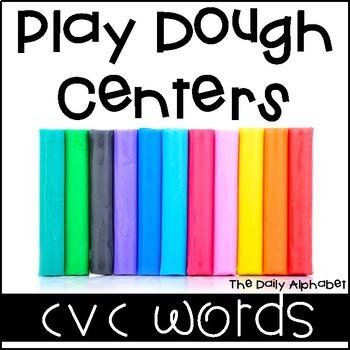 Play Dough Centers CVC Words