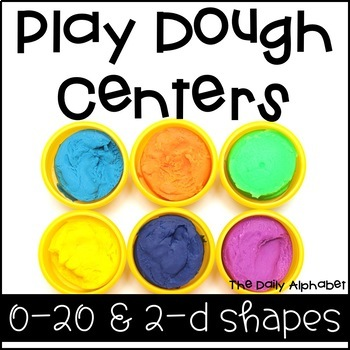 Play Dough Centers Numbers 0-20 & 2-D Shapes