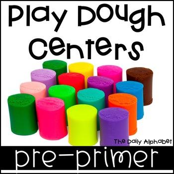 Play Dough Centers Pre-Primer Sight Words