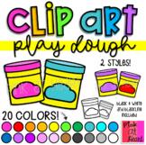 Play Dough Clip Art / Set of 41 Images