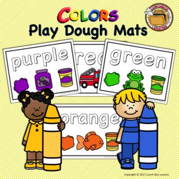 Play Dough Color Mats