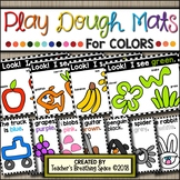 Color Play Dough Mats --- Play Dough Mats for Exploring COLOR