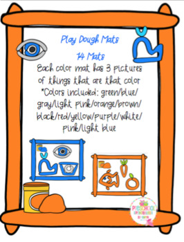 Play Dough Color Mats with Pictures