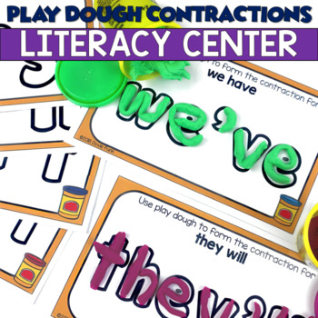 Play Dough Contractions - 24 Learning Mats